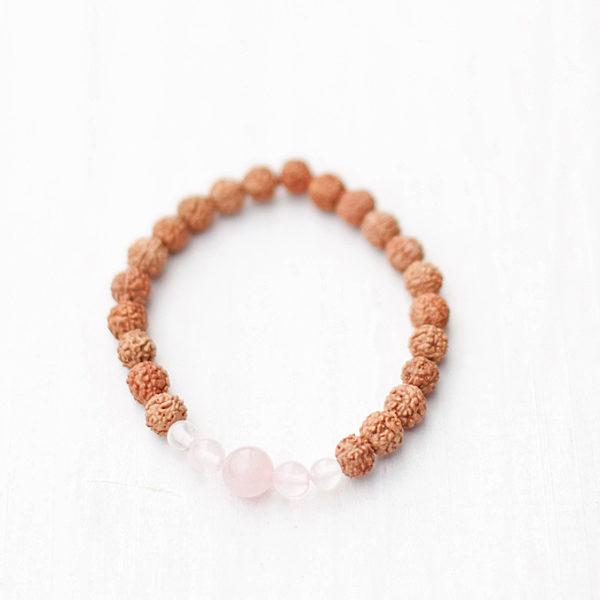 Love Stone Rose Quartz Bracelet