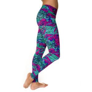 Onzie Pants - Yoga Pants - Fuchsia Snake