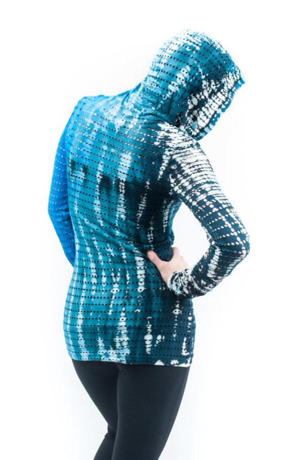 Hard Tail Long Sleeve V-Neck Hoodie - Rainbow