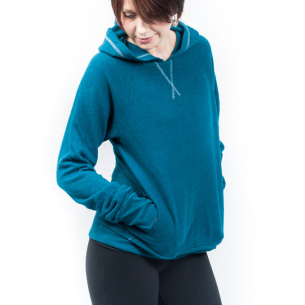 Hard Tail Fitted Pull-Over Hoodie - Tile Blue
