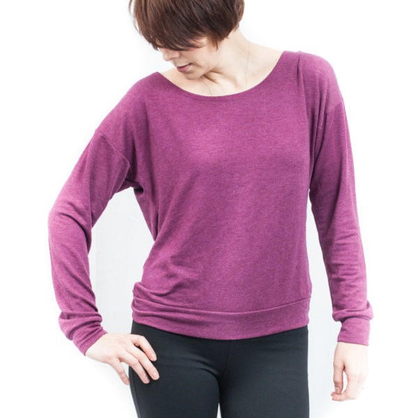 Hard Tail Slouchy Back Sweatshirt - Huckleberry