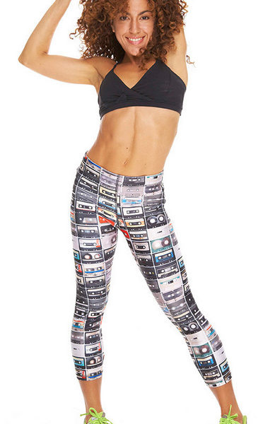 Zara Terez - Womens Mixtapes Performance Capri Leggings-pose