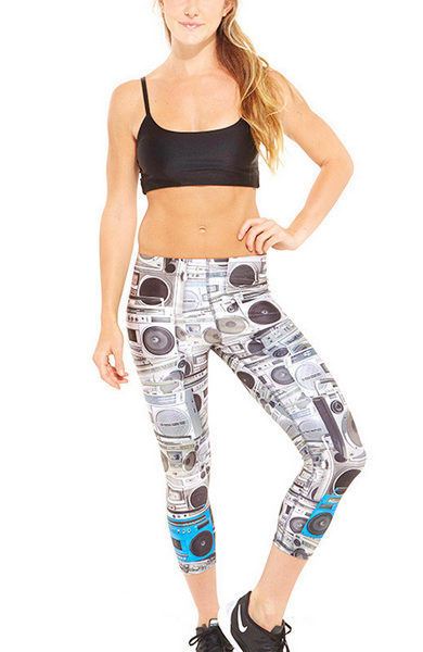 Zara Terez - Womens Boombox Performance Capri Leggings - Front