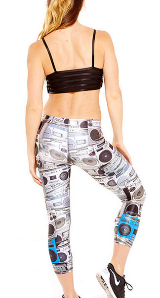 Zara Terez - Womens Boombox Performance Capri Leggings - Back