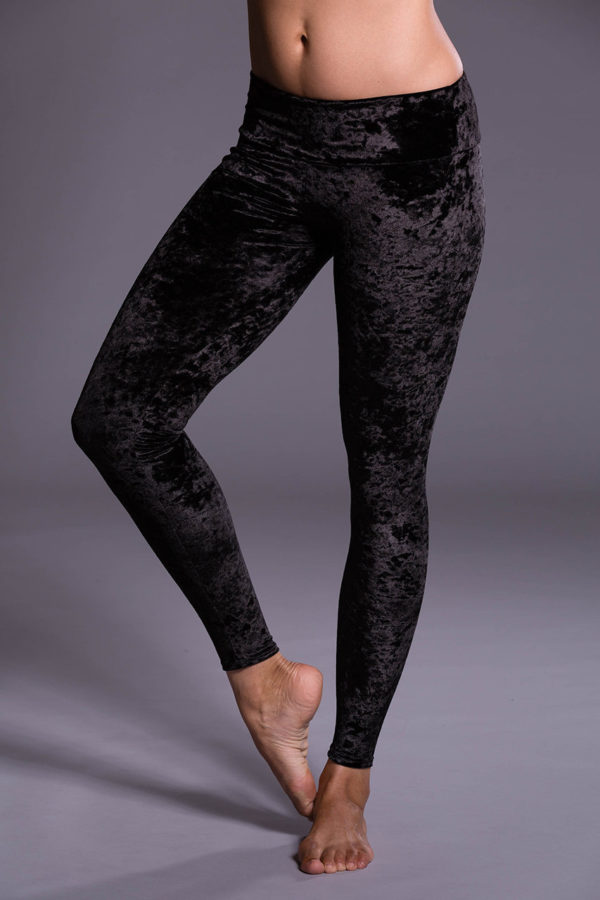 Onzie Long Leggings - Black Velvet