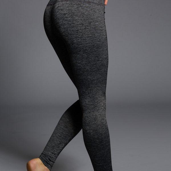 Onzie Long Leggings - Charcoal Heather Back