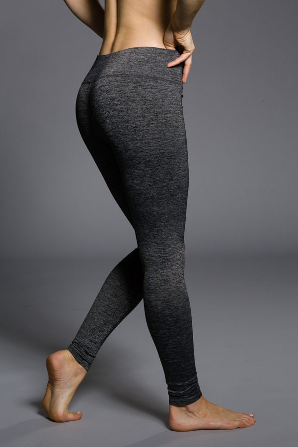 Onzie Long Leggings - Charcoal Heather Back