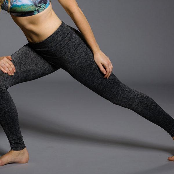 Onzie Long Leggings - Charcoal Heather Pose