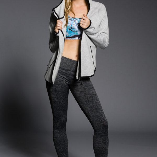 Onzie Long Leggings - Charcoal Heather Model