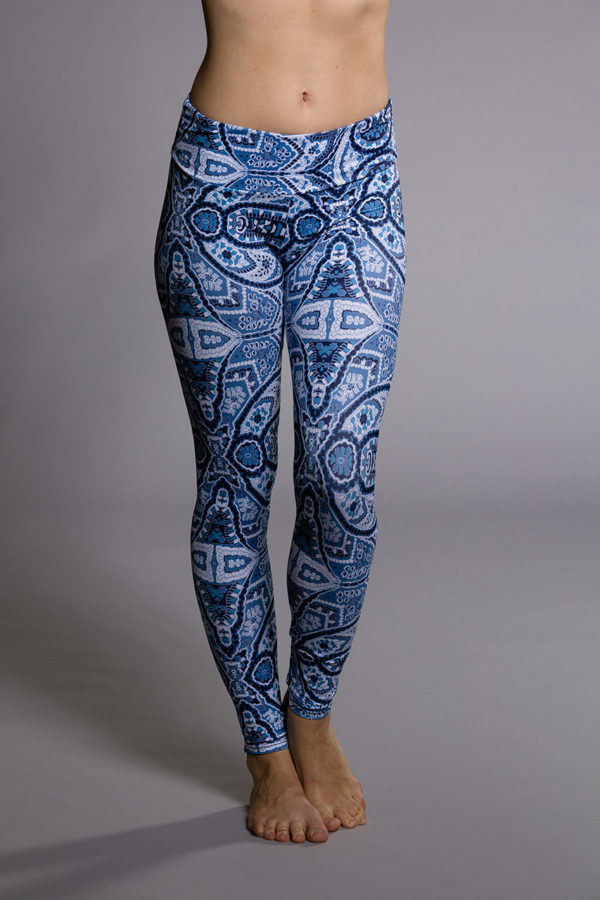 Onzie Long Leggings - Iris Front