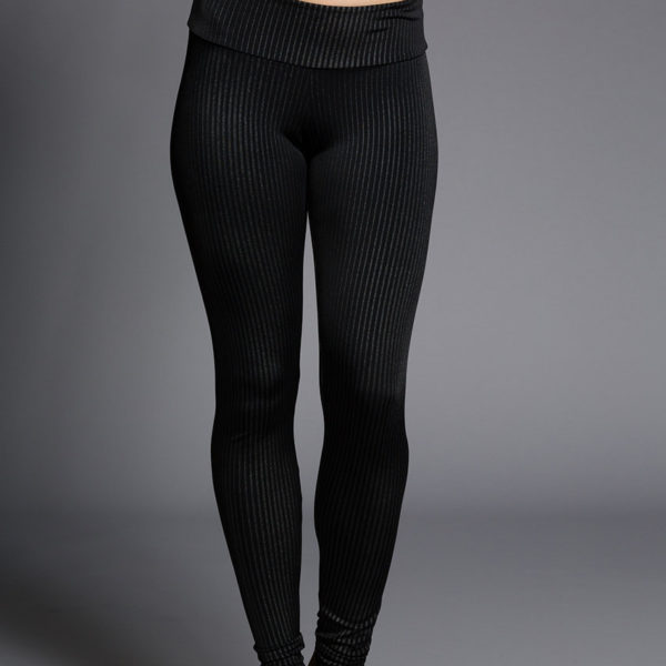 Onzie Long Leggings - Pin Stripe Front