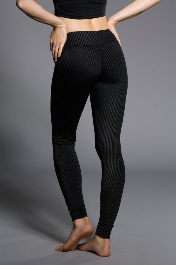 Onzie Long Leggings - Pin Stripe Back