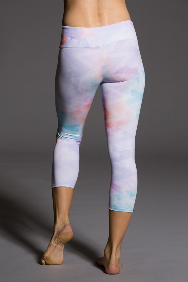 Onzie Capri Pant - Candy Cloud Back