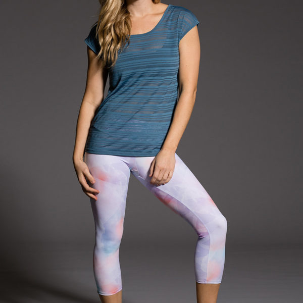 Onzie Capri Pant - Candy Cloud Model 1