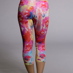 Onzie Capri Pant - Hawaiian Tropic Back